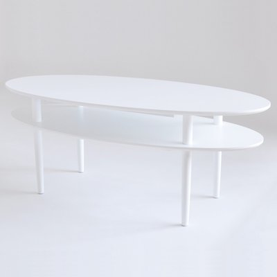 Kings Cross ovalt soffbord 130 cm - Vit