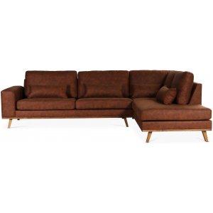 Ranger soffa med öppet avslut höger - Cognac