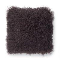 Shansi kuddfodral fårskinn - Mörkbrun