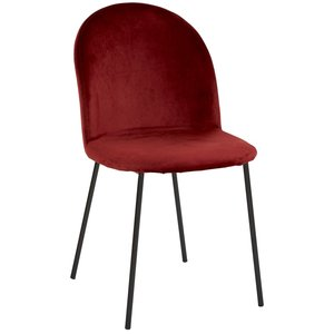 Khloe stol - Bordeaux sammet