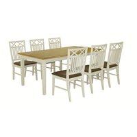 Ramnäs matgrupp - Bord inklusive 6 st stolar - Vit/ek
