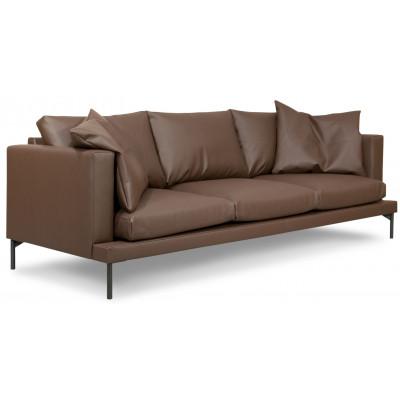 Davis 3-sits soffa - Chocolate (återvunnet läder)