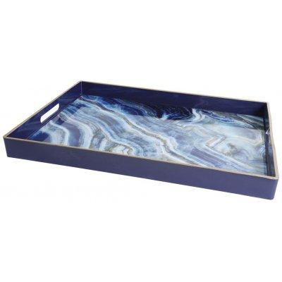 Marmor serveringsbricka - Blå