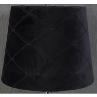 Velvet Diamond lampskärm 23 cm - Svart