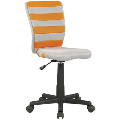 Alannah skrivbordsstol - Grå/orange