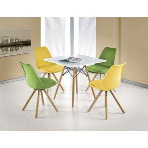 Björg matbord 80x80 cm - Vit/bok