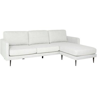 Laholms soffa med vändbar divan - Ljusbeige