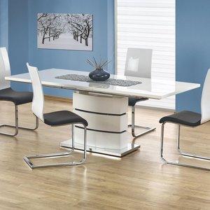 Annina matbord 160-200 cm - Vit högglans