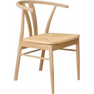 Torvald matstol - Vitpigmenterad oljad ek