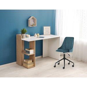 Oluf skrivbord - Ek/Vit