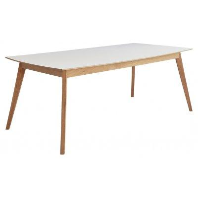 Millie matbord 195-245 cm - ek / vit