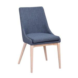 Bethan stol - Blå/whitewash