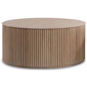 Cylinder runt soffbord 100 cm - Whitewash