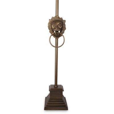 Lejonhuvud Bordslampa 60 cm - Antik mässing