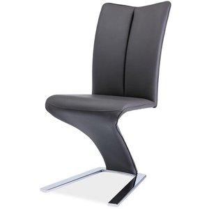 Nylah stol - Grå/krom