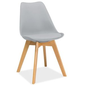 Jeremiah stol - Ljusgrå/bok