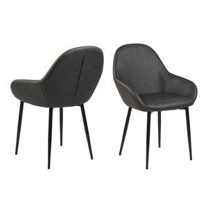 Jersey karmstol - Duvgrå