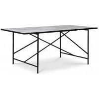 Portland matbord 180 cm - Marmor/svart
