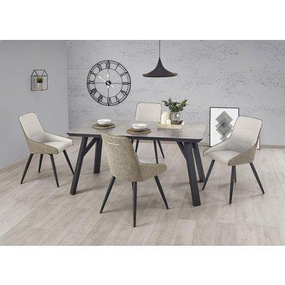Jaden matbord 160 cm - Svart/betongmönster