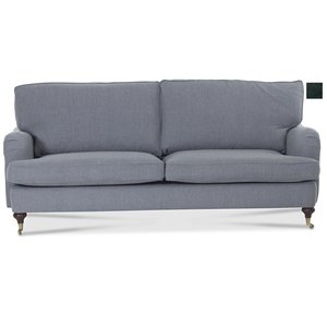 Howard Watford Deluxe 4-sits rak soffa - Svart