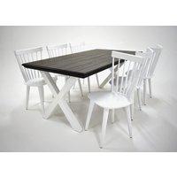 Farmer matgrupp - Bord inklusive 6 st stolar - Grå / vit