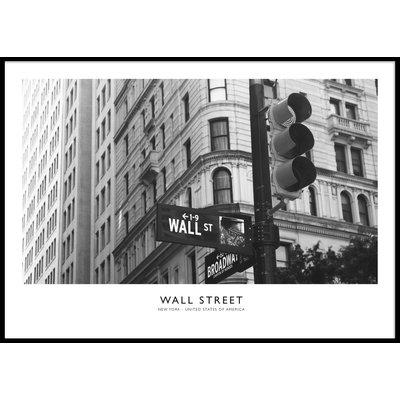 WALL STREET HORIZONTAL - Poster 50x70 cm