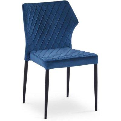 Vilfred matstol - Blå (Sammet)