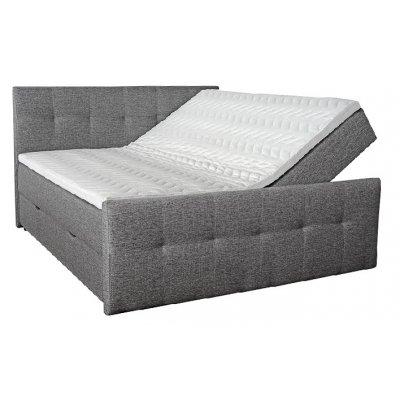 Siesta sängpaket, kontinentalsäng med förvaring 5-zons pocket (Grå) - Valfri bredd