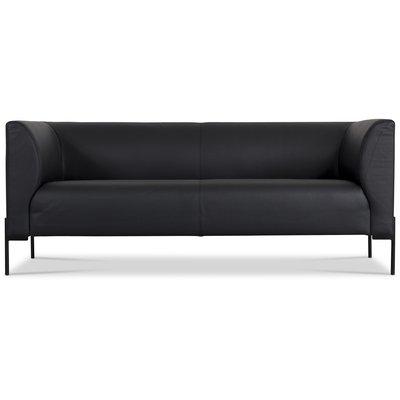 Ontario 3-sits soffa - Svart läder