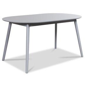 Göteborg ovalt matbord - Ljusgrå