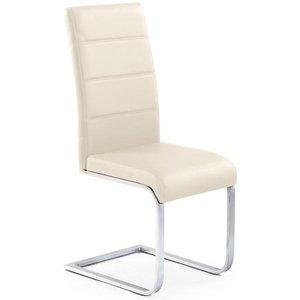 Macy stol - Beige (PU) / Krom