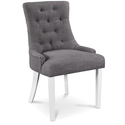Tuva stol, grå - Vita ben