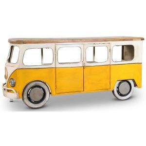 Vintage Folkabuss barbord/bardisk - Metall/mango