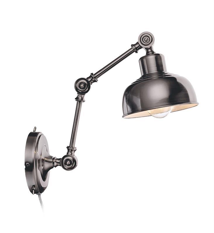 Grimstad Vägglampa MässingSilver