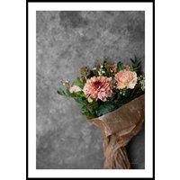 ORANGE FLOWER BOUQUET - Poster 50x70 cm