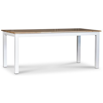 Dalarös matbord 180 cm - vit / oljad ek