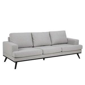 Ventura soffa 3 sits - Ljusgrå/svart