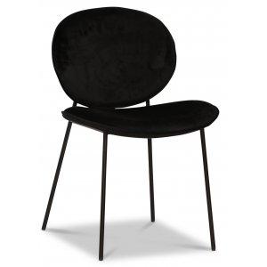 Rondo stol - Svart (Sammet)/svart