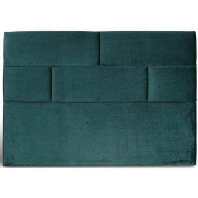 Carpe sänggavel med mönster (Grönt sammet) - Valfri bredd