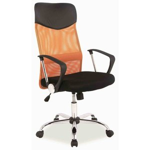 Kvissle skrivbordsstol - Svart/orange