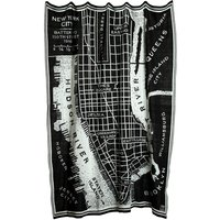 Pläd Manhattan 130X170 cm - Svart / Vit