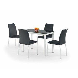 Daniella matbord 100 cm - Vit/svart