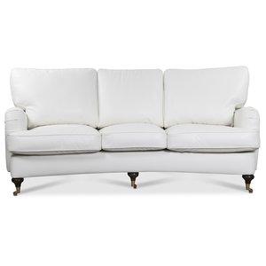 Howard Watford deluxe 4-sits svängd soffa - Vitt PU
