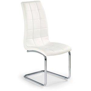 Briana stol - Vit (PU) / Krom