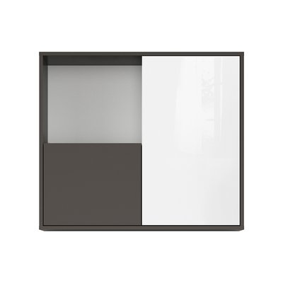 Link väggskåp - Grafitgrå/vit
