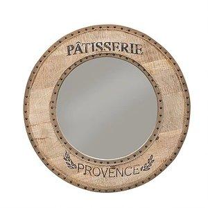 Provence rund spegel - Vintage