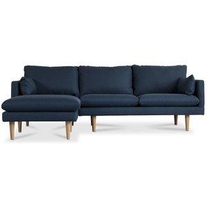Kleo 2-sits soffa med öppet avslut vänster - Mörkblå & 7490.00