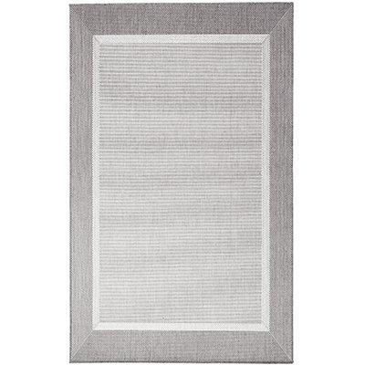 Flatvävd / slätvävd matta - Bodega - Ljusgrå