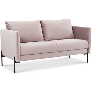 Kingsley 2,5-sits soffa - Ljusrosa sammet
