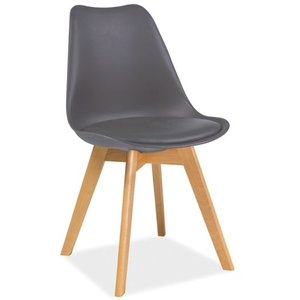 Jerry stol - Grå/bok